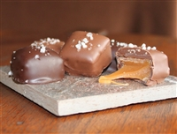 Chocolate Dipped Creamy Copper Kettle Cooked Caramels