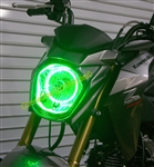 SPORTBIKE LITES Plazma LED Headlight Angel Eye Halo Ring Kit for Kawasaki Z125 Pro