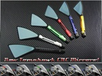 SPORTBIKE LITES CUSTOM BILLET TOMAHAWK MIRRORS FOR HONDA, KAWASAKI, SUZUKI, YAMAHA, TRIUMPH, AND CRUISERS