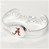 Silver Engraved Team Logo Bracelet Alabama Roll Tide