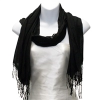 Black Viscose Scarf