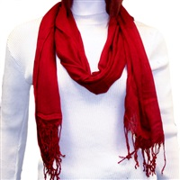 Burgundy Viscose Scarf