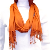 Orange Viscose Scarf