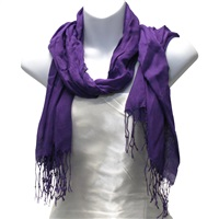 Purple Viscose Scarf