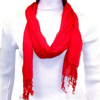 Red Viscose Scarf