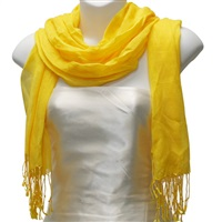 Yellow Viscose Scarf