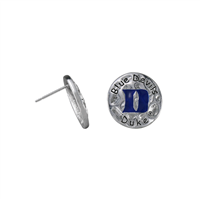 Eunice Circular Script Earrings Duke University