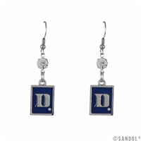 Square Dangle Earrings | Duke Blue Devils