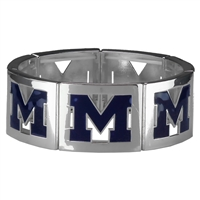 Square Stretch Wolverines Silver Jewelry