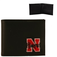 Nebraska Men's Bi-fold Billfold Wallet Huskers