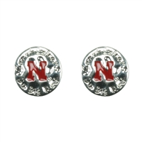 Eunice Circular Script Earrings University of Nebraska
