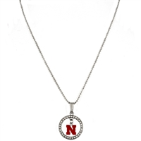 Studded Hoop & Dangle Logo | Nebraska