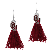 Tassel Charm Earrings University of Oklahoma