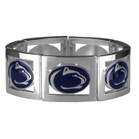Square Stretch Nittany Lions Silver Jewelry