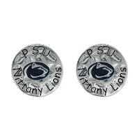 Eunice Circular Script Earrings Penn State University