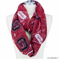USC SC Cocks College Infinity Scarf University Apparel