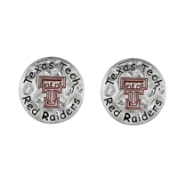 Eunice Circular Script Earrings Texas Tech University