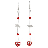 Pride Heart Drop Earrings | Arkansas