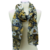 Paisley Scarf West Virginia University