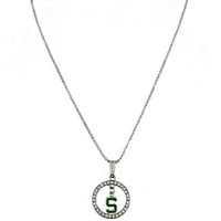 Studded Hoop & Dangle Logo | Michigan State