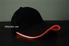 Led Lighted Glow Hat Black Fabric Orange LED