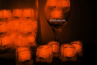 Amber Orange Jewel LiteCubes Light Up Ice Cubes