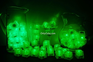Green LiteCubes 3 Mode Light Up Ice Cubes