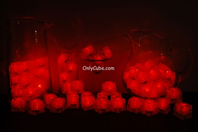Red LiteCubes 3 Mode Light Up Ice Cubes