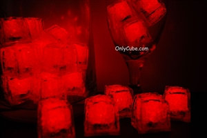 Ruby Red Jewel LiteCubes Light Up Ice Cubes