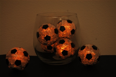 Yellow LiteCubes Soccer Ball Light Up Ice Cubes