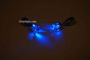 Blue LED Light Up Diamond Shape Stud Earrings