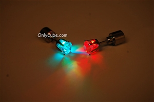 MultiColor LED Light Up Diamond Shape Stud Earrings