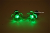 Green LED Light Up Flower Shape Stud Earrings