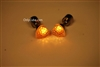 Yellow LED Light Up Heart Shape Stud Earrings