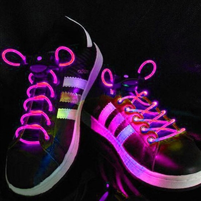 Pink LED Shoelaces