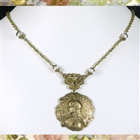 Peacock Goddess Necklace