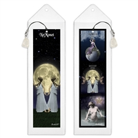 Tarot Bookmark World, Moon and Star Cards