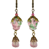 The King is Dead Sugar Skull Style Earrings