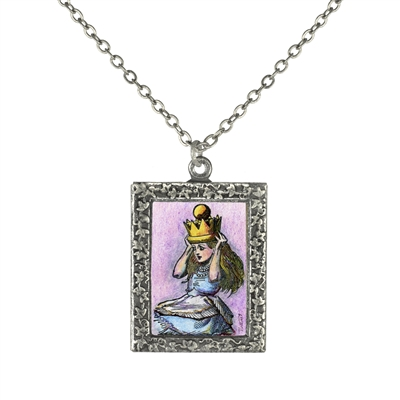 Alice in Wonderland - Crowned Alice Art Necklace