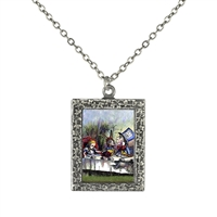 Alice in Wonderland Tea Party Art Necklace