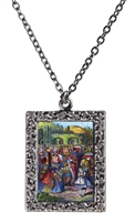 Alice in Wonderland Alice and Red Queen Necklace