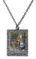 Alice in Wonderland Alice and Fawn Necklace
