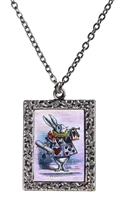 Alice in Wonderland Rabbit with Horn Necklace