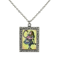 Alice in Wonderland - Alice and the Flamingo Necklace