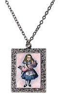 Alice in Wonderland - Alice and the Piglet Necklace