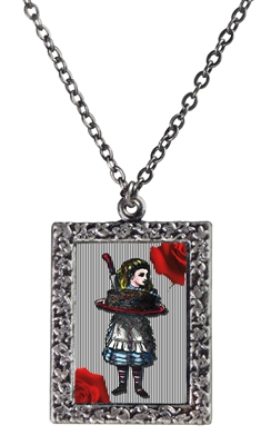 Alice in Wonderland - Alice with a Cake Art Necklace