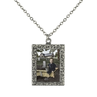 Vintage Photo Pendant Necklace - Mikey Makes a Grave Mistake