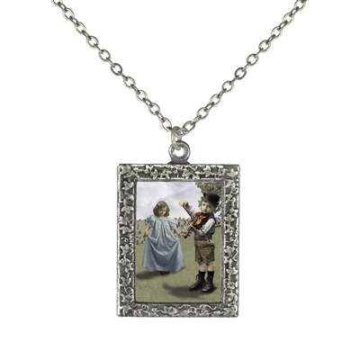 Vintage Photo Pendant Necklace - Last Dance