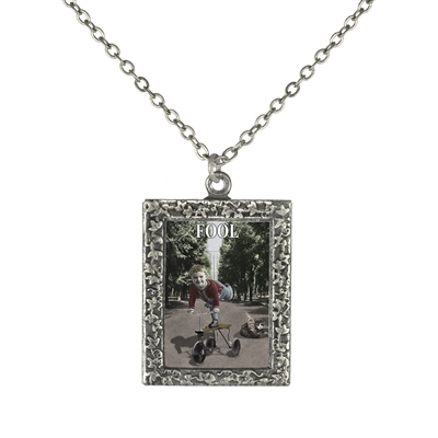 Fool Tarot Card Frame Necklace