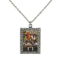 Tower Tarot Card Frame Necklace